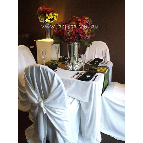 SQUARE TABLE CLOTH IN WHITE