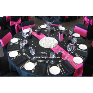 ROUND TABLE CLOTH IN BLACK