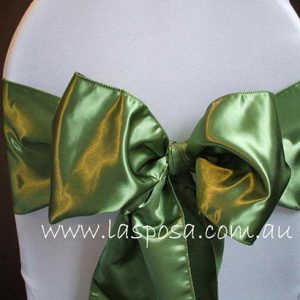 APPLE GREEN SATIN SASHES
