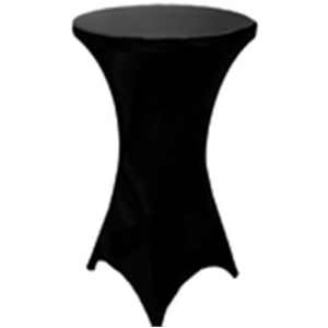 BLACK LYCRA/SPANDEX COCKTAIL BAR COVERS