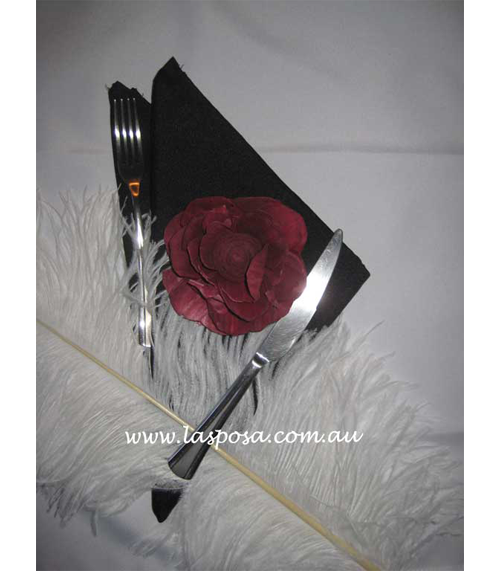 BLACK POLYESTER TABLE NAPKINS