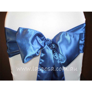 BLUE SATIN SASHES