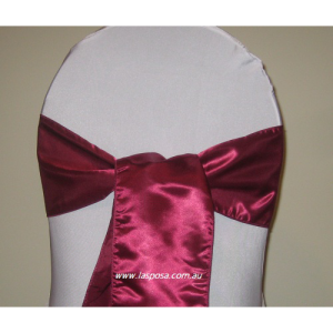 BURGUNDY/WINE RED SATIN SASHES
