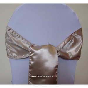 CHAMPAGNE SATIN SASHES