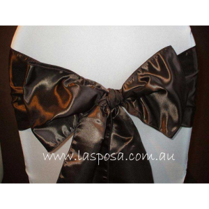 CHOCOLATE BROWN SATIN SASHES