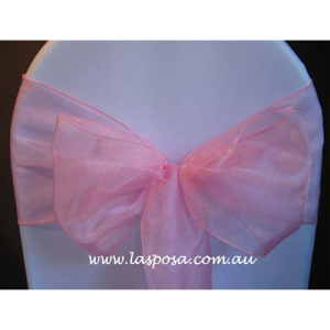 DUSTY ROSE ORGANZA SASHES
