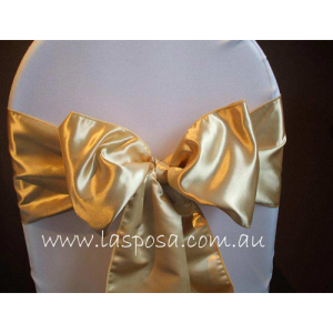 GOLD SATIN SASHES
