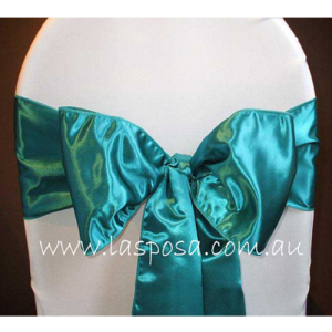 TEAL SATIN SASHES
