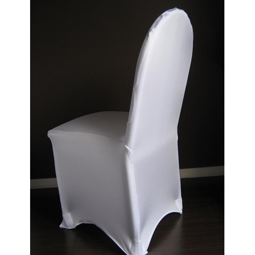 WHITE LYCRA/SPANDEX CHAIR COVERS