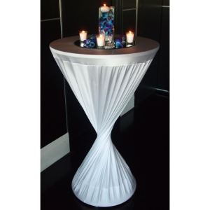 WHITE LYCRA/SPANDEX COCKTAIL BAR COVERS