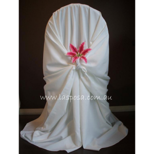 WHITE PILLOWCASE CHAIR COVER
