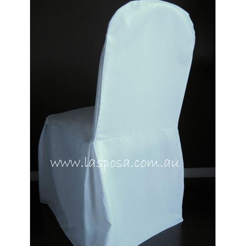 WHITE ROUNDED COVER WITH PLEAT
