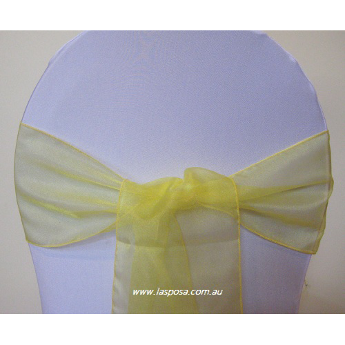 YELLOW ORGANZA SASHES