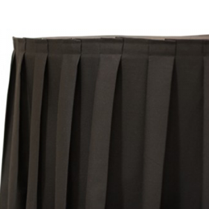 BACK BOX PLEATED TABLE SKIRTING